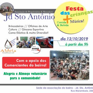 cartaz sto antonio - aldeia 2019